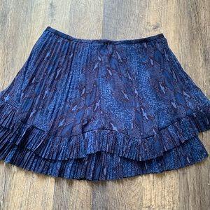 Banana Republic blue snakeskin tiered skirt
